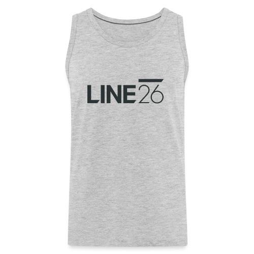 Line26 Logo (Dark Version) - Men's Premium Tank