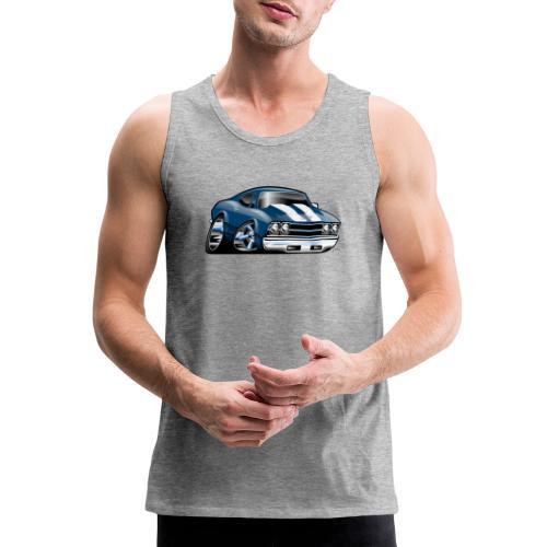 69 Muscle Car Cartoon - Men's Premium Tank