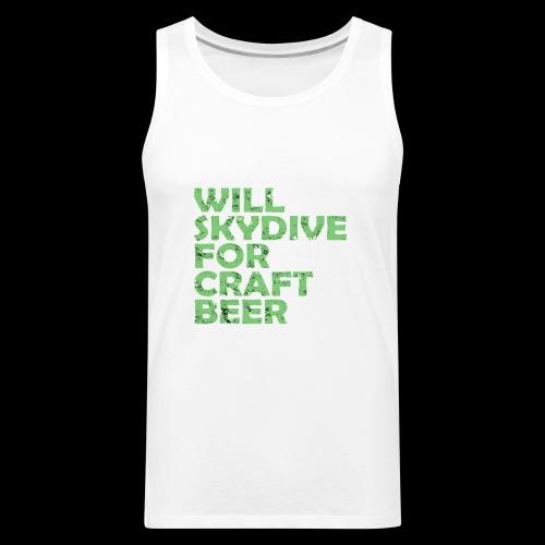skydive for craft beer - Men's Premium Tank