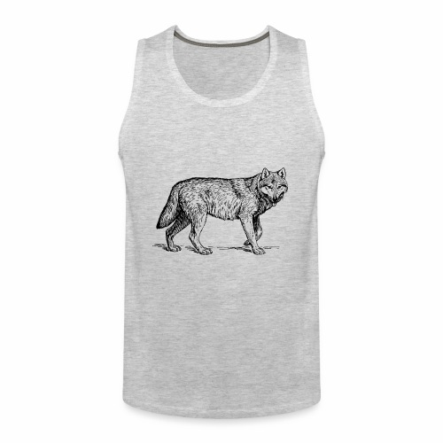 wolf T-shirt/wolf accessories/wolf apparel - Men's Premium Tank