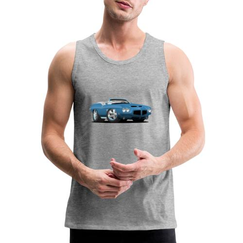 American Classic Seventies Convertible Car Cartoon - Men's Premium Tank