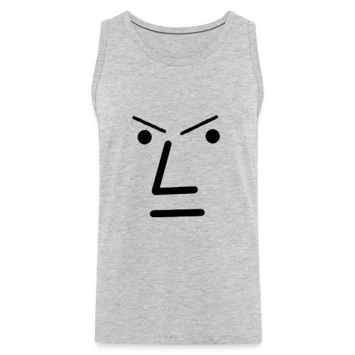 Grey Face Design Angry - Men's Premium Tank