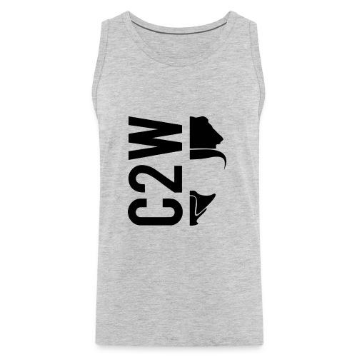 C2W Split Logo - Black - Premium Tee - Men's Premium Tank