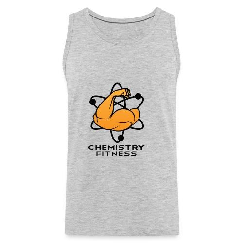 Chemistry Fitness logo (black) Long Sleeve Shirts - Men's Premium Tank