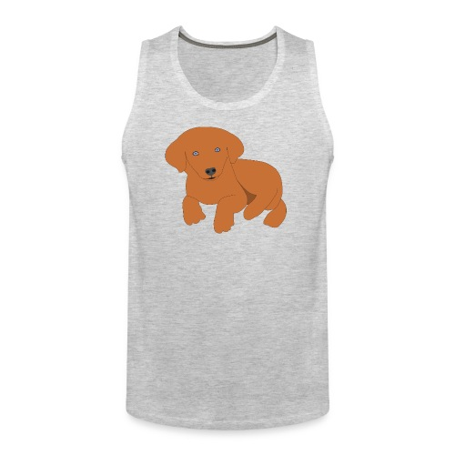 Golden retriever dog - Men's Premium Tank