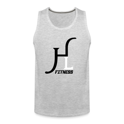 HIIT Life Fitness logo white - Men's Premium Tank