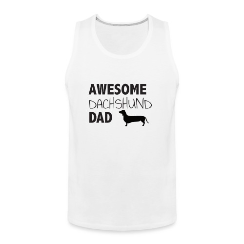 Awesome Dachshund Dad - Men's Premium Tank