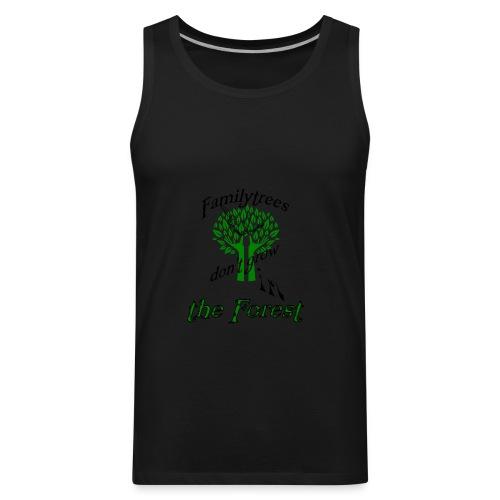 genealogy family tree forest funny birthday gift - Men's Premium Tank