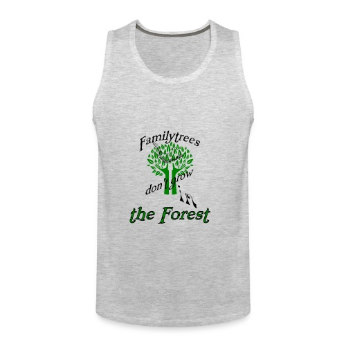 genealogy family tree forest funny birthday gift - Men's Premium Tank