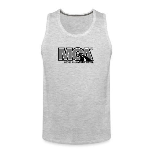 MCA Logo WBG Transparent BLACK WHITE TITLEfw fw pn - Men's Premium Tank