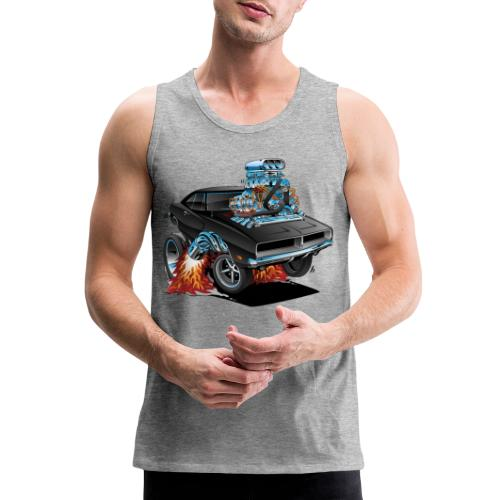 Classic 69 American Muscle Car Cartoon - Men's Premium Tank