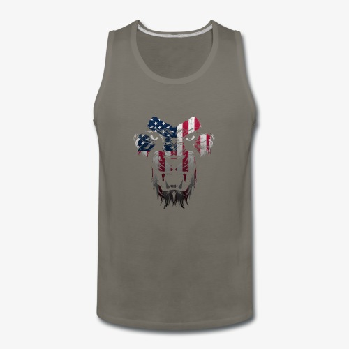 American Flag Lion Shirt - Men's Premium Tank