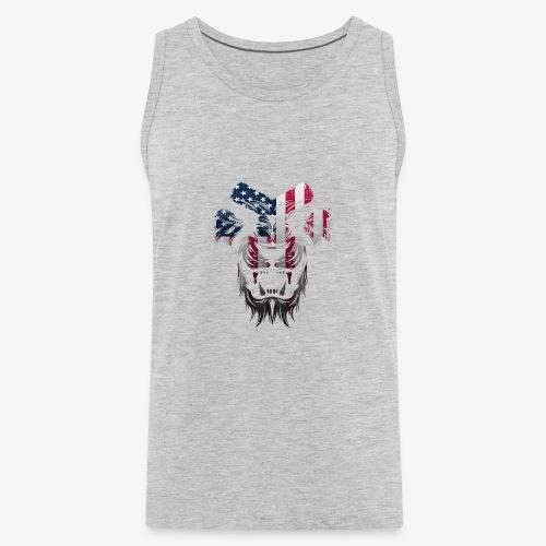 American Flag Lion Shirt - Men's Premium Tank