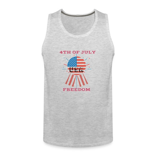 4th of July Freedom - Men's Premium Tank