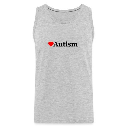 Heart Autism b - Men's Premium Tank