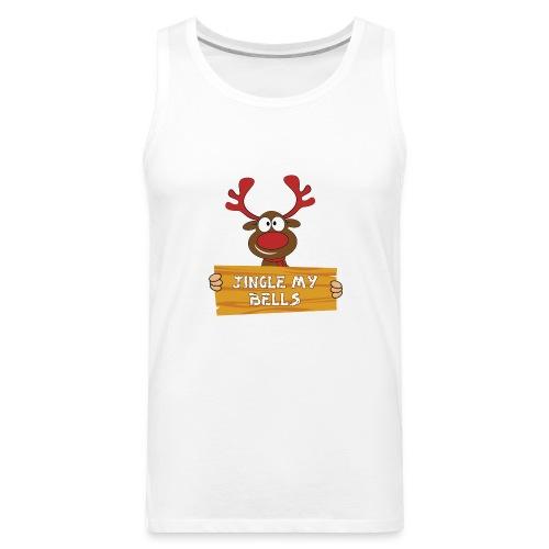 Red Christmas Horny Reindeer 1 - Men's Premium Tank