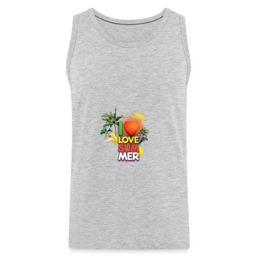 I love summer - Men's Premium Tank