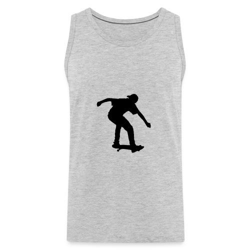 Boy On Skateboard Silhouette - Men's Premium Tank