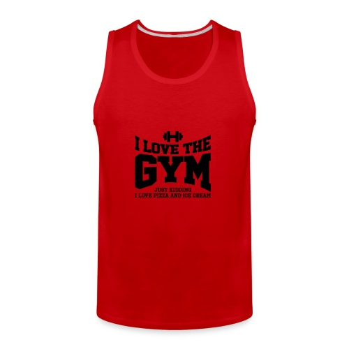 I love the gym - Men's Premium Tank