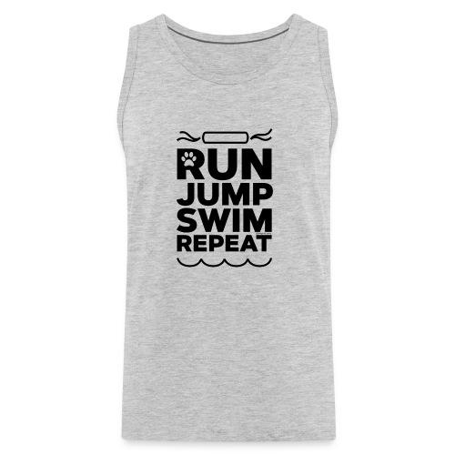 Run Jump Swim Repeat - black imprint - Men's Premium Tank