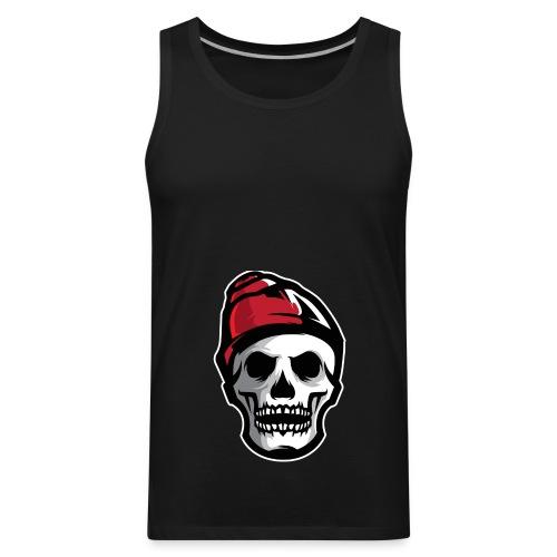 Custom Skull With Ice Cap Merch! - Men's Premium Tank