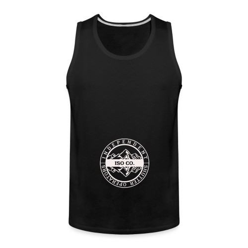 ISO Co. White Classic Emblem - Men's Premium Tank