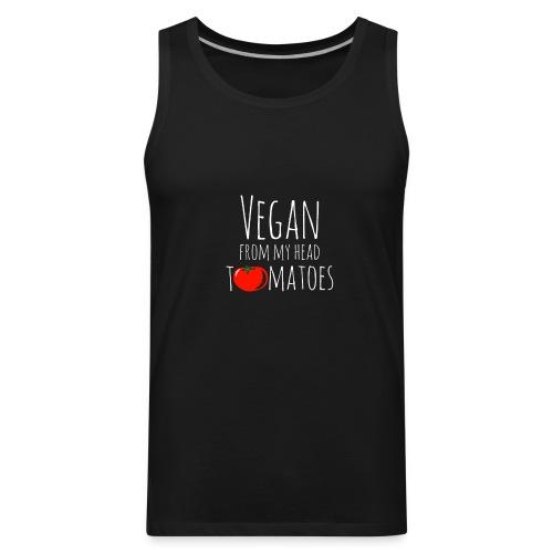 Vegan from my head tomatoes - Men's Premium Tank