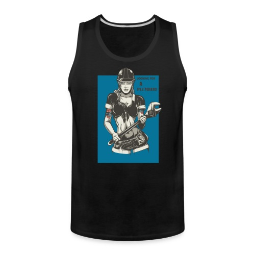 Looking for a Plumber Engineer T shirt - Men's Premium Tank