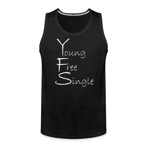 Young Free Single from Bent Sentimenta - Men's Premium Tank