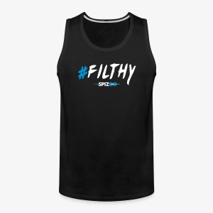#Filthy Black - Spizoo Hashtags - Men's Premium Tank