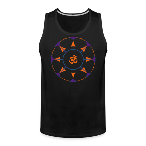 Mandala OM Hindu Symbol - Men's Premium Tank