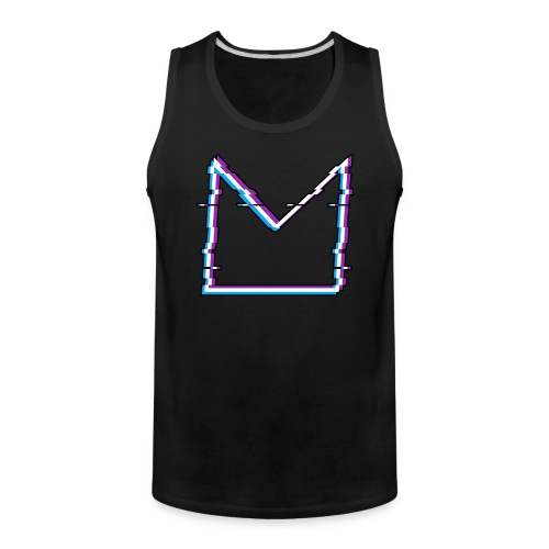 Glitch M//TECH Logo - Men's Premium Tank