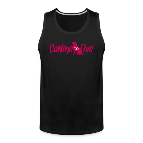 CaNine to Five Logo - Men's Premium Tank