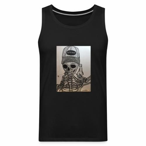 Get R Done Skele - Men's Premium Tank