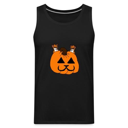 foxes with pumpkin - Men's Premium Tank