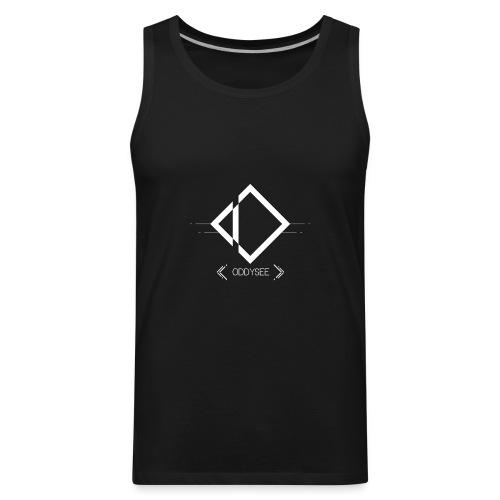 White Oddysee Logo - Men's Premium Tank