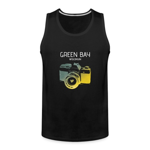 Green Bay camera with heart - Men's Premium Tank