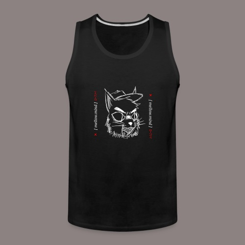 Mellow Mind (White on Black) - Men's Premium Tank