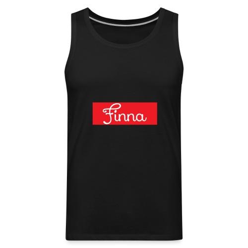 Red Finna logo - Men's Premium Tank