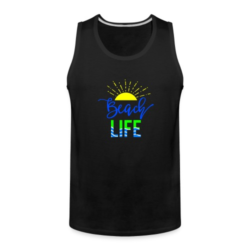 beach life shirt - Men's Premium Tank