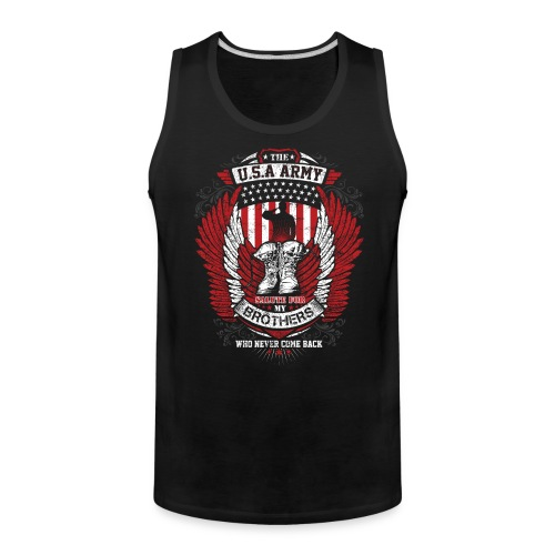 U.S.A Army T-shirt Salute For Usa Army - Men's Premium Tank