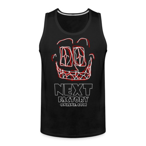 Next Factory Online Showcard Red and White WhtText - Men's Premium Tank
