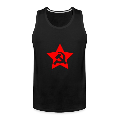 red and white star hammer and sickle - Men's Premium Tank