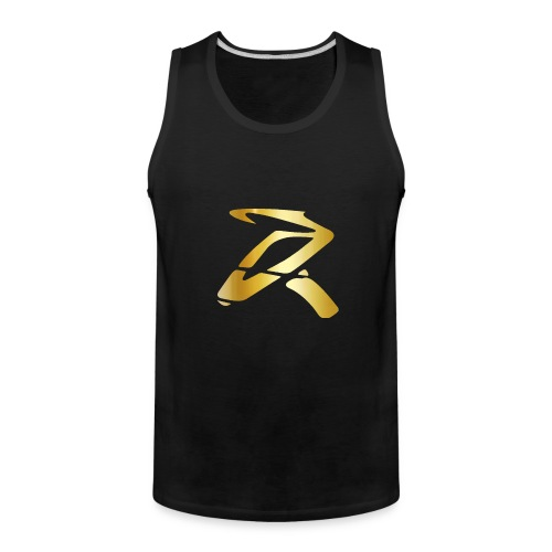 Rizz R Logo GOLD - Men's Premium Tank