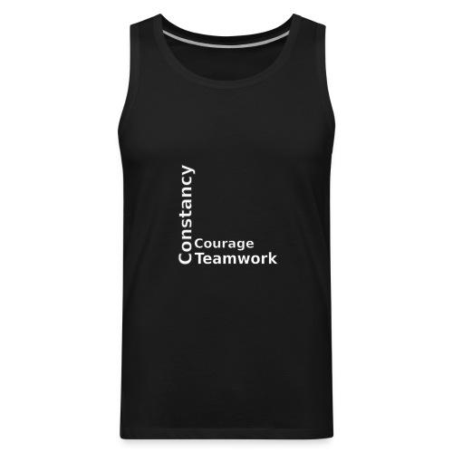 constancy courage teamwork - Men's Premium Tank