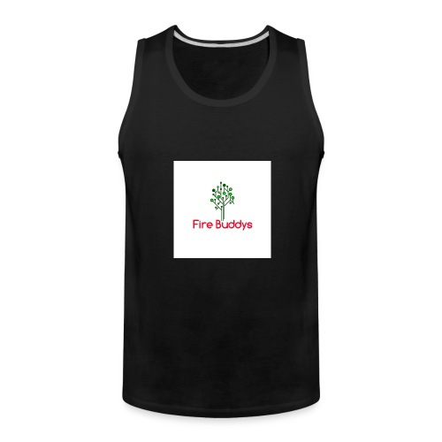 Fire Buddys Website Logo White Tee-shirt eco - Men's Premium Tank