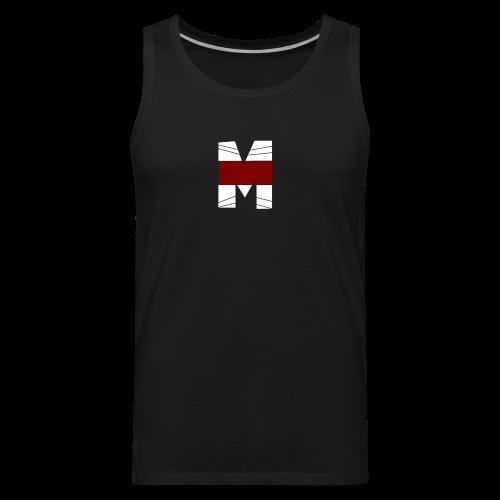 WHITE AND RED M Season 2 - Men's Premium Tank
