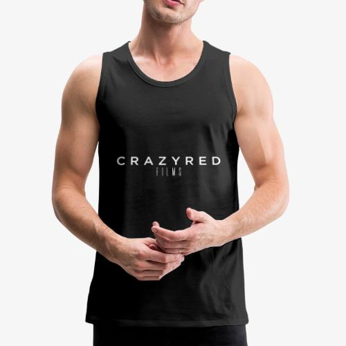 CrazyRed Films Logo Sport On Black - Men's Premium Tank