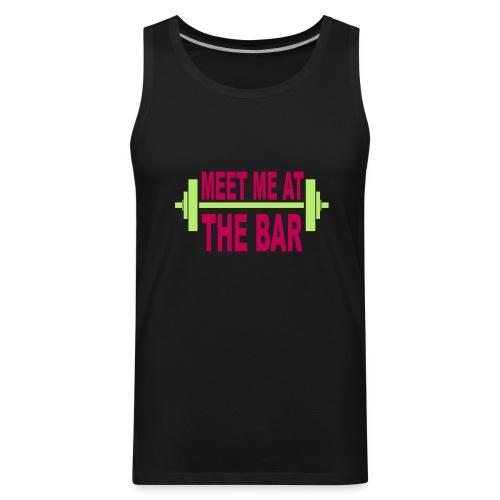 meet_me_at_the_bar_2_spreadsheet - Men's Premium Tank