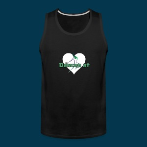 Dancer At Heart (White Heart) - Men's Premium Tank